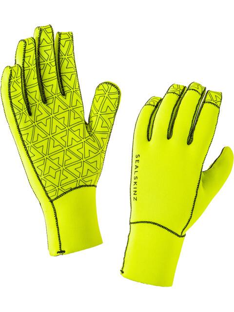 Sealskinz Neoprene Gloves Men Black/Hi Vis Yellow